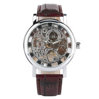 Mens Watches Top Brand Luxury Mechanical Watch Movement Stainless Steel Case Steampunk Watch Bussiness Hand Wind Watch Color