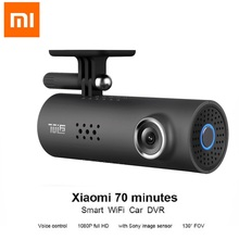 Hot Originale Xiaomi 70 Minuti Macchina Fotografica Dell'automobile DVR Video Recorder Intelligente WIFI 130 Gradi di Controllo Vocale Con SONY IMX323 Immagine sensore