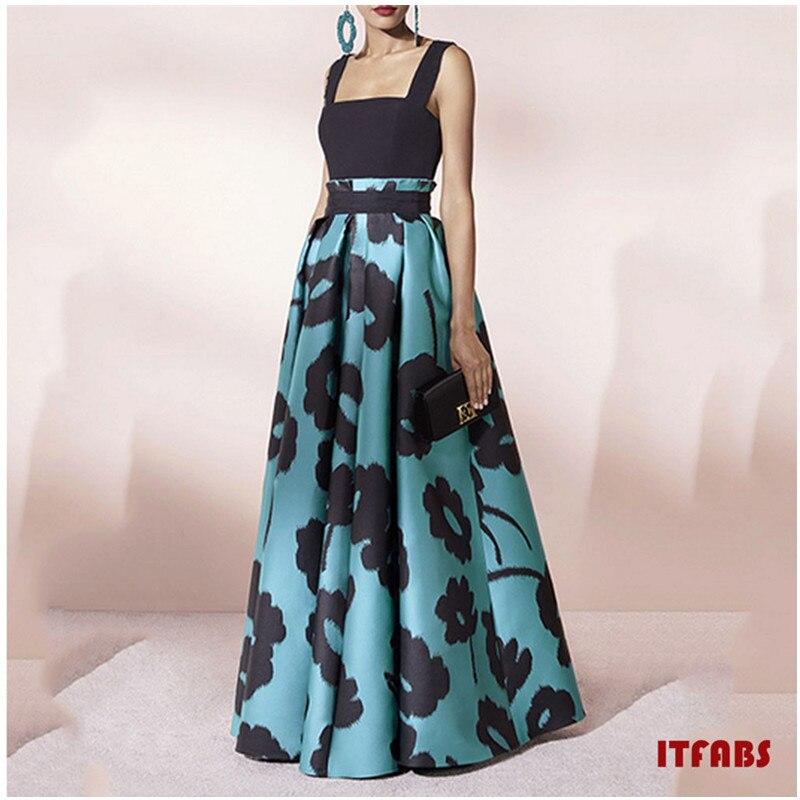 Женское Летнее цветочное длинное женское платье-макси модное повседневное с коротким рукавом вечернее летнее пляжное платье