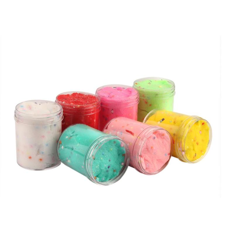 120ml DIY Slime Clay Spongy Fluffy Crunchy Foam Beads Kids Anti-Stress Toys