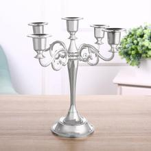 European Style Three Arm Candlestick For Candlelight Dinner Wedding Decoration Candle Holder Five Arm Candlestick For Hotel