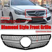 High Quality W207 C207 Diamond Grill Car Front Bumper Grill Grille For Mercedes For Benz E For Coupe W207 C207 A207 2014 2016