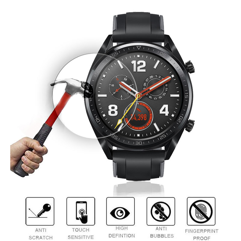 Soft Glass Film For Huawei Watch GT Screen Protector HD 9H PET Film Glass For Huawei Watch GT Strap Smart Watch Accessories