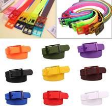 1Pcs Newest Plastic Multi-color Belts For Women Yellow Belt Metal Pin Buckle Men Party Wedding Jeans Pants