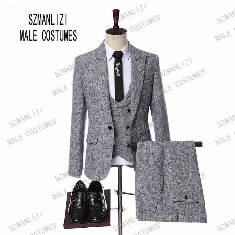 0dc9cd2a547 Detail Feedback Questions about Latest Coat Pant Designs Suits Men 2019  Custom Made Formal Groom Grey Suit Slim Fit Business Mens Tuxedo Wedding  Suit For ...