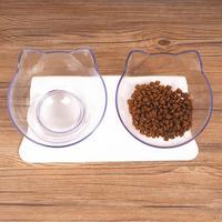 2019 новая Нескользящая двойная миска с поднятым подставкой для домашних животных и миска для воды идеально подходит для кошек и маленьких со...