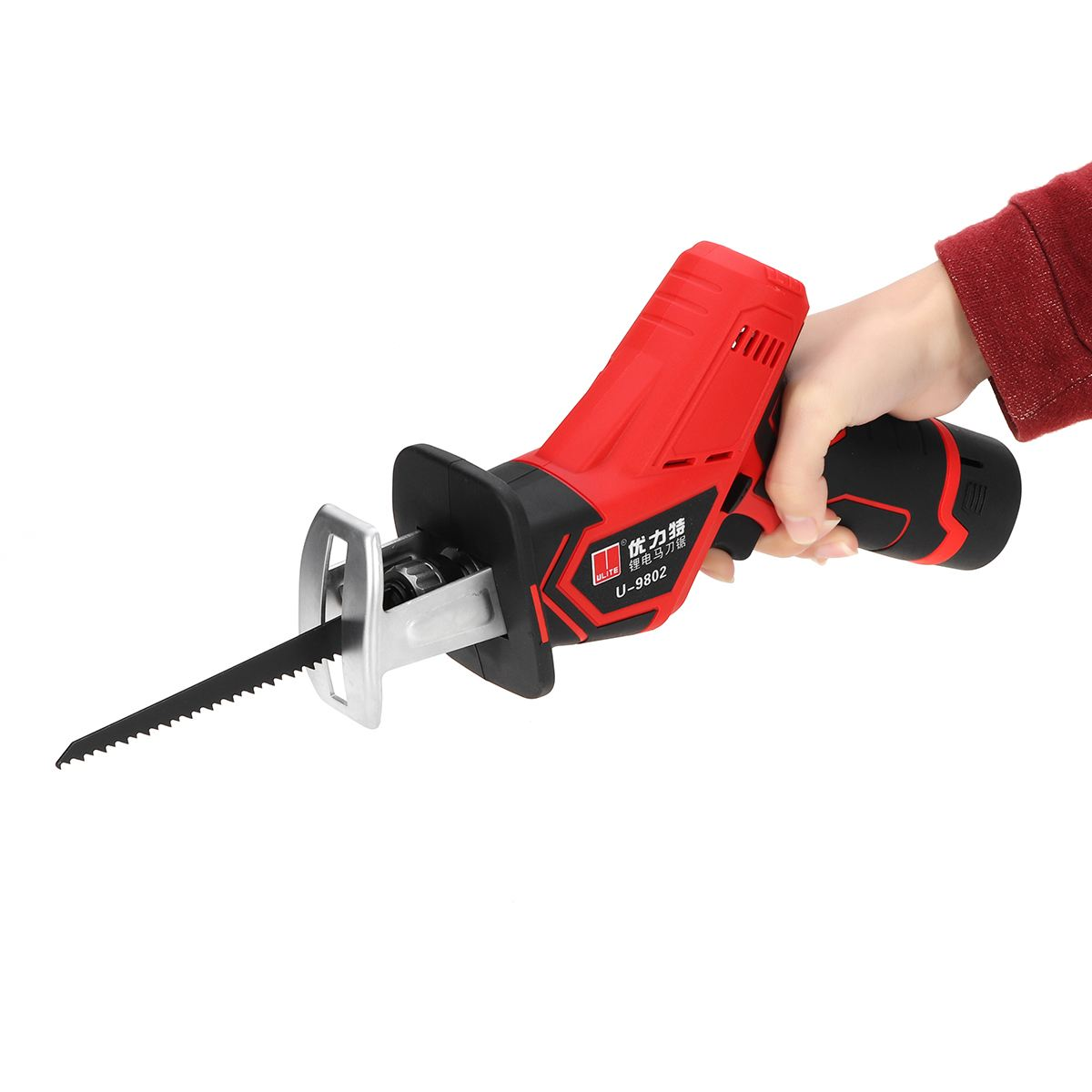 12V 1300mAh Rechargeable Electric Reciprocating Saw Saber Convert Adapter Cordless Wood Metal Plastic Pruning Chainsaw Tool
