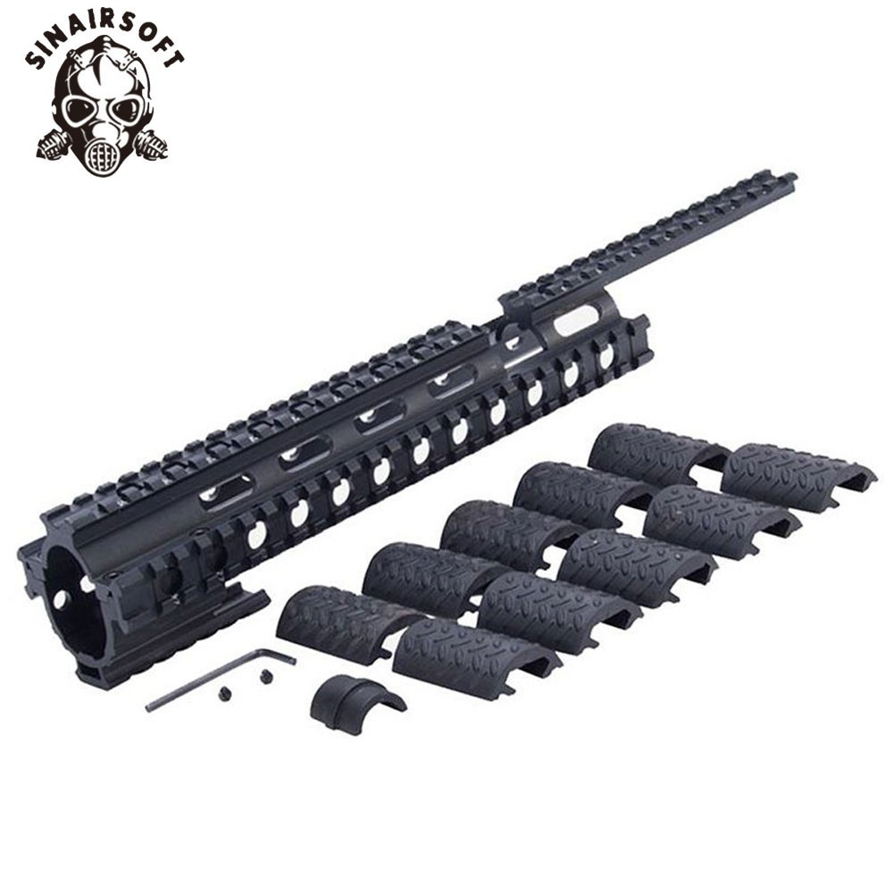 12 PCS Rubber Weave Picatinny Quad Rail Covers Provide Maximum Protection