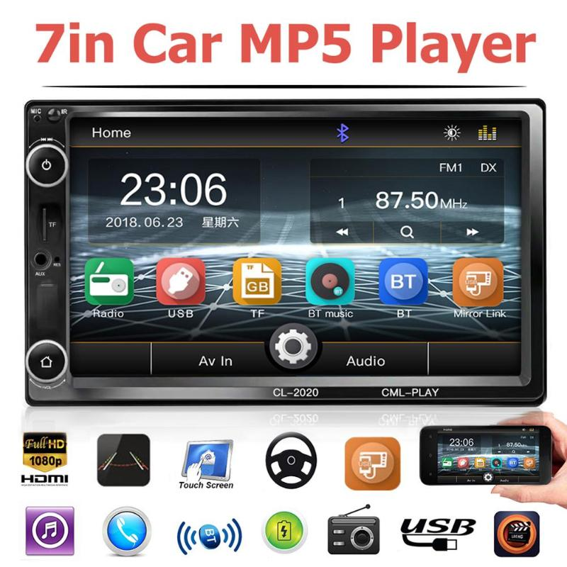 Automagnitol 2 Din Remote Control 7 Inch Touch Screen Car Stereo Multimidia Car MP5 Player FM