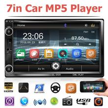 Automagnitol 2 Din A Distanza di Controllo 7 Pollici Touch Screen Car Stereo Multimediale Car MP5 Player FM Radio USB Bluetooth Con /No Fotocamera