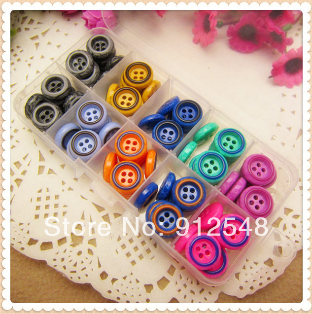 Mezcla de 9 colores, Envío Gratis 90 piezas Botón de resina de 15mm al por mayor accesorios de botón de ropa para niños arte hecho a mano, WLF62