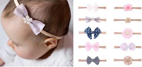 10 unids/lote niños bebé niña pinzas para el pelo lazo horquilla diadema accesorios para la cabeza nuevo