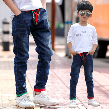 Brand Pants Kids Trousers Fashion Boys Jeans Children Ripped Leggings Spring Denim Clothes Baby Casual Jean Infant 4 to 14 Years 1