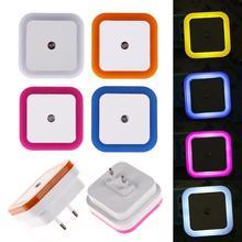 Sensor Night Light Control Night Light Mini EU US Plug Novelty Square Bedroom lamp For Baby Gift Romantic Night Lights