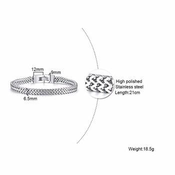 Bali Foxtail Stainless Steel Bracelet for Men Bangles Men Bracelets ba2a9c6c8c77e03f83ef8b: 21cm