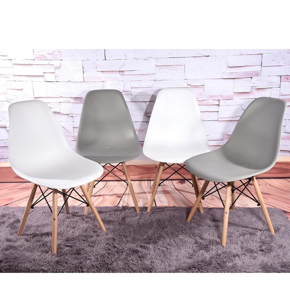 2 pc minimaliste moderne loisirs chaise noir salon tabouret maison hôtel Restaurant salle à manger meubles nordique canapé dossier pouf