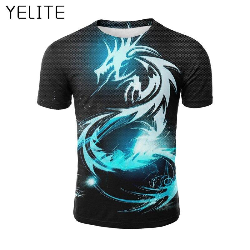 YELITE Men's Novelty Dragon…