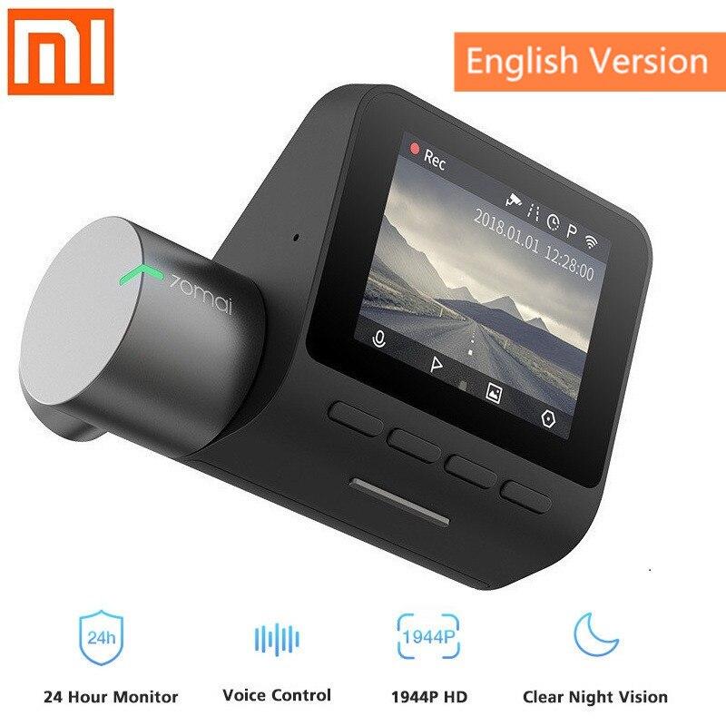Xiaomi 70mai Dash Cam Pro 1944 P inteligente del coche DVR de la Cámara de Control de voz de 140 grados de visión Monitor de aparcamiento Wifi noche visión grabadora de coche