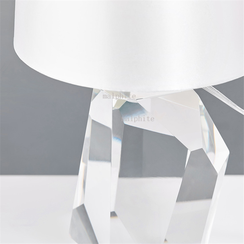 LED Vintage Table Lamps for Bedroom Post Modern Home Decoration Light Design Iron K9 Crystal Creative Indoor Lighting Fixture in LED Table Lamps from Lights Lighting