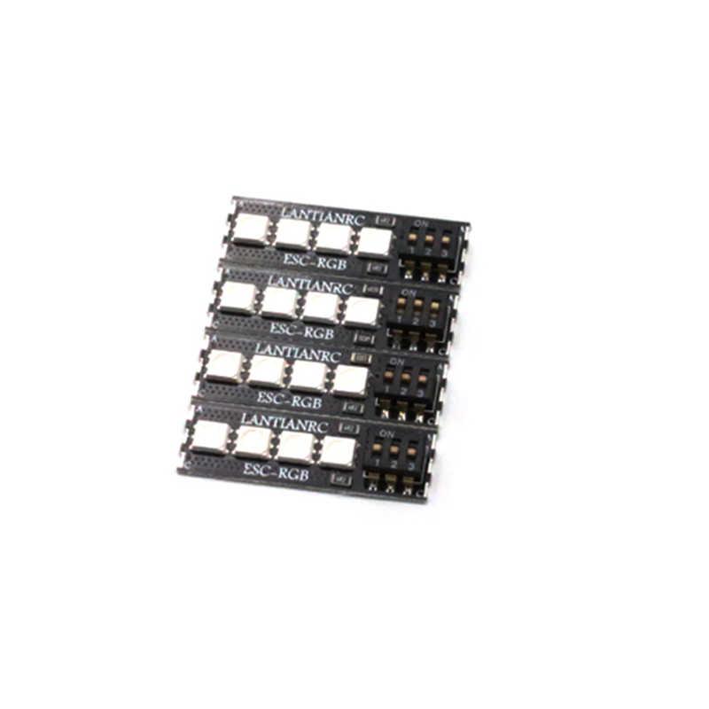 4 Pcs RGB 5050 LED Papan 4 Bit 3-6 S 80A untuk ESC RC Drone FPV Racing Multi rotor Model Spare Part DIY Aksesoris
