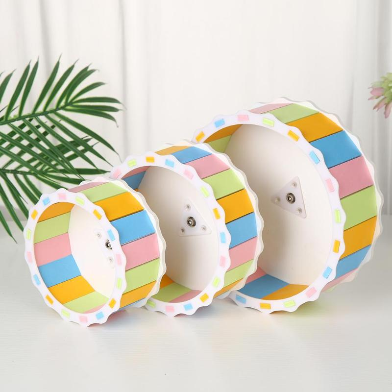 Wood Silent Hamster Round Wheel Small Pet Guinea Pig Exercise Sports Roller Pet Rotary Running Pet Toys Household Pets Products