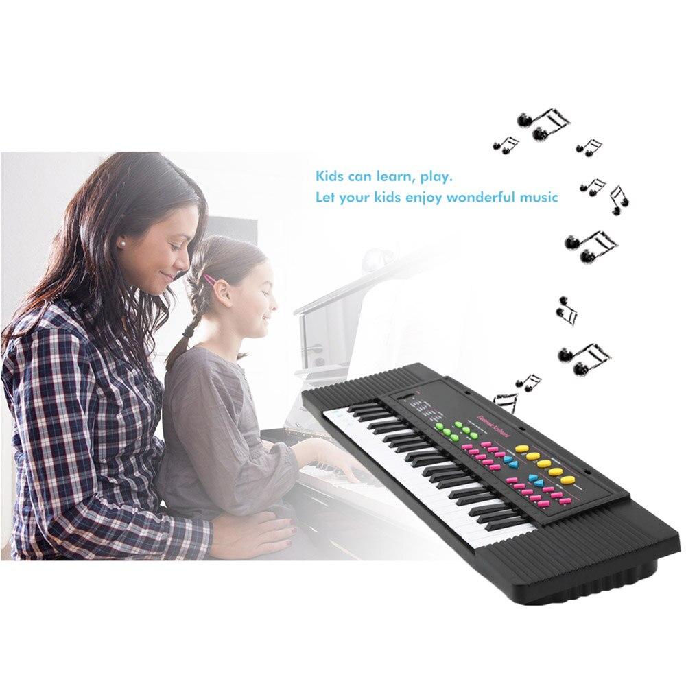 Enfants 44 touches clavier de Piano électronique moyen avec Microphone 5 chansons de démonstration pour enfants jouets éducatifs musicaux Piano électrique