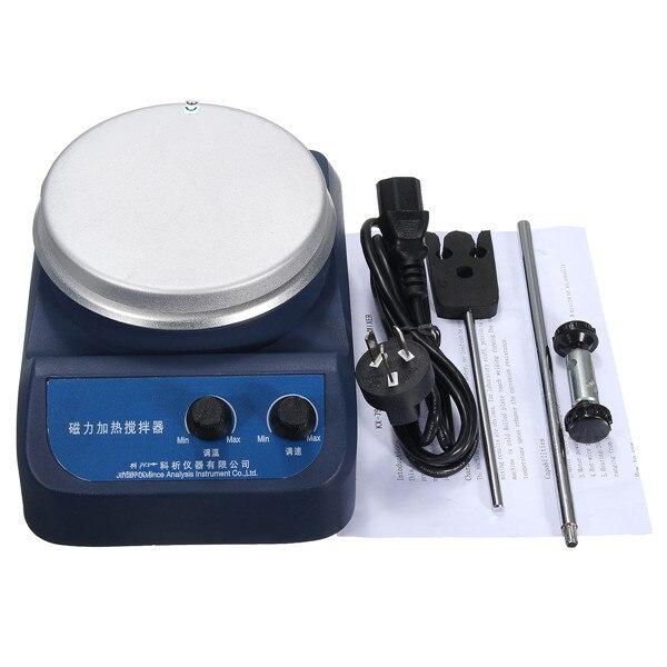 Agitateur magnétique 3L avec centigrades chauffants, agitateur de chauffage magnétique à plaque chauffante numérique, agitateur de laboratoire