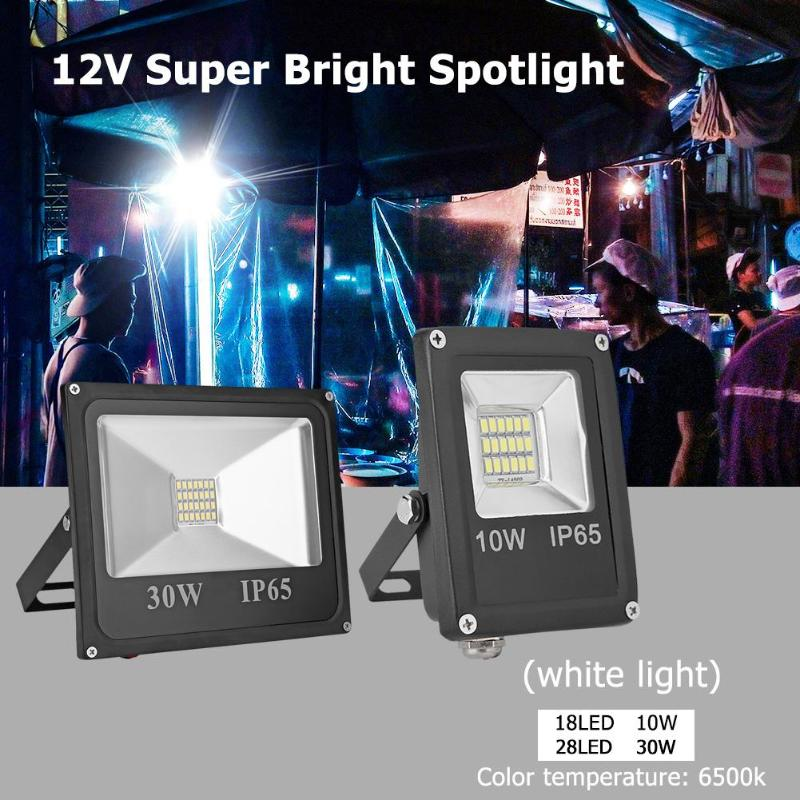 LED Floodlight 10W 30W  Outdoor Spotlight Flood Light AC 12V Waterproof IP65 Professional Lighting Lamp