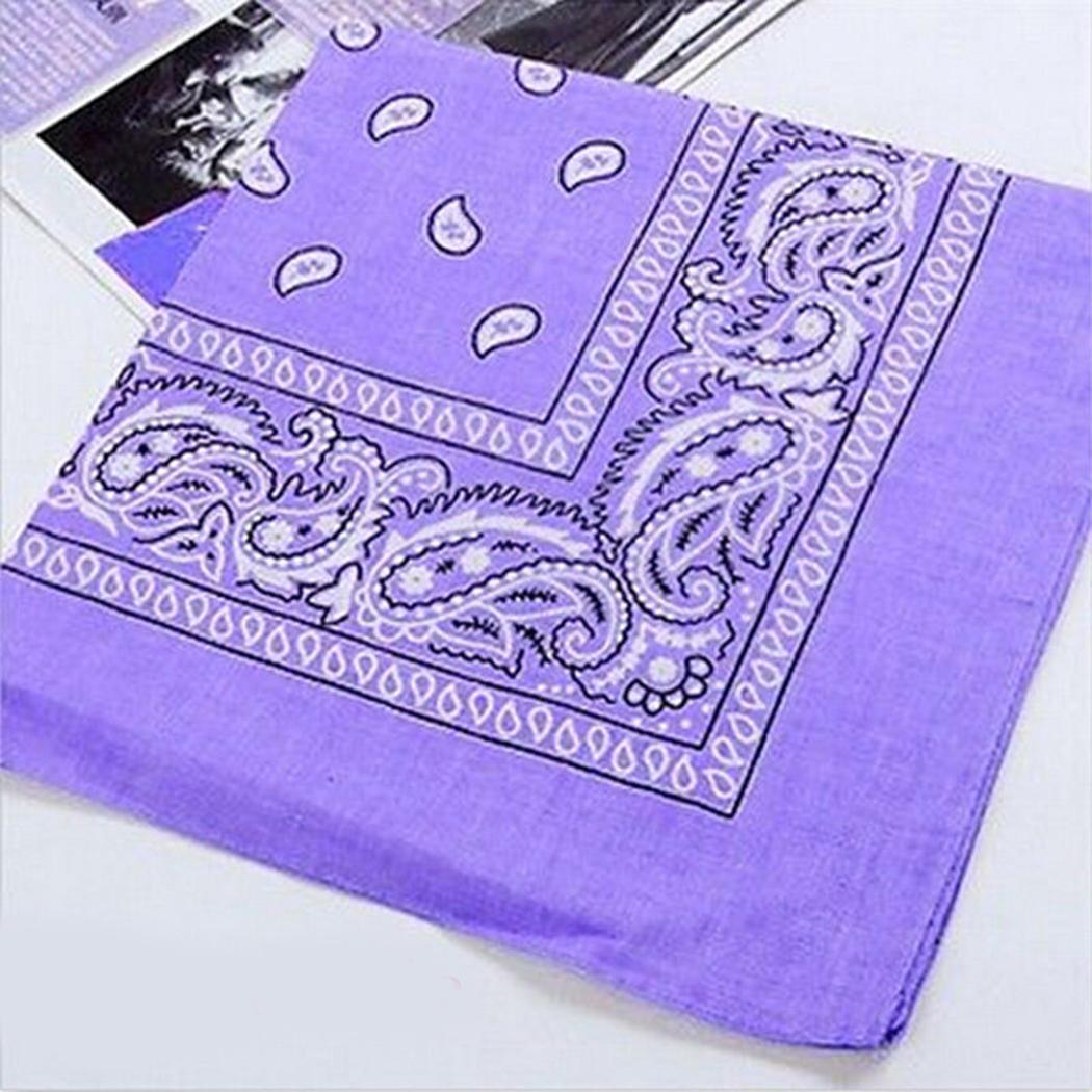 Outdoor Square Bandana Headwear Hair Band Unisex Scarf Neck Casual Wrist Floral Wrap Head Tie Hot Sale Accessories Travel Supply