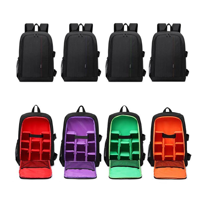 15 6 inch Waterproof Camera Soft Bag Video Case Multi functional Digital DSLR Photo Padded Backpack
