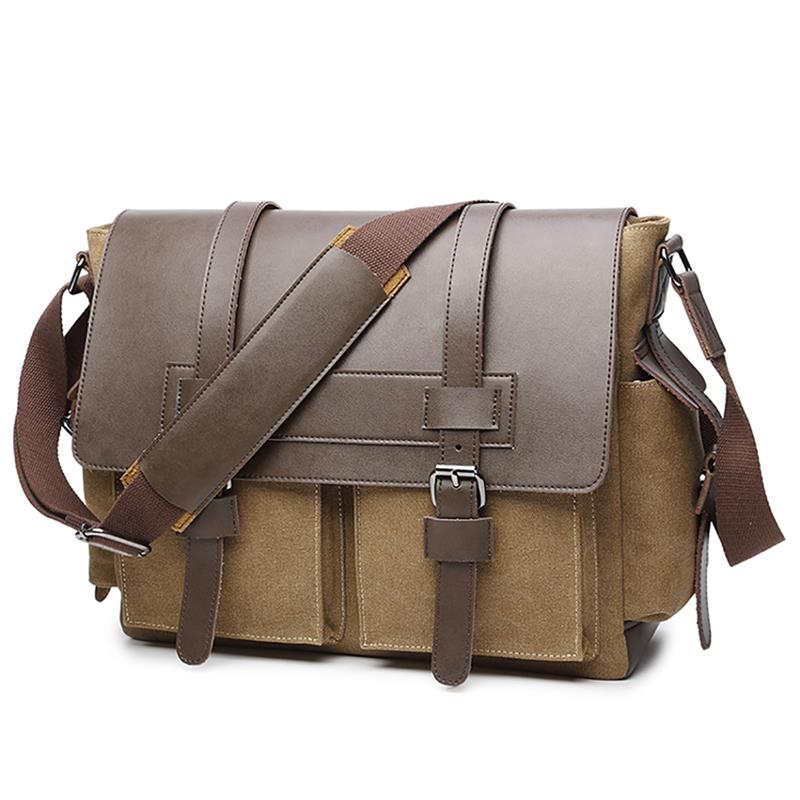 Vintage Mens Canvas Messenger Bags Casual Briefcase Man Business Shoulder Messenger Bag Men Laptop Handbag MaleVintage Mens Canvas Messenger Bags Casual Briefcase Man Business Shoulder Messenger Bag Men Laptop Handbag Male