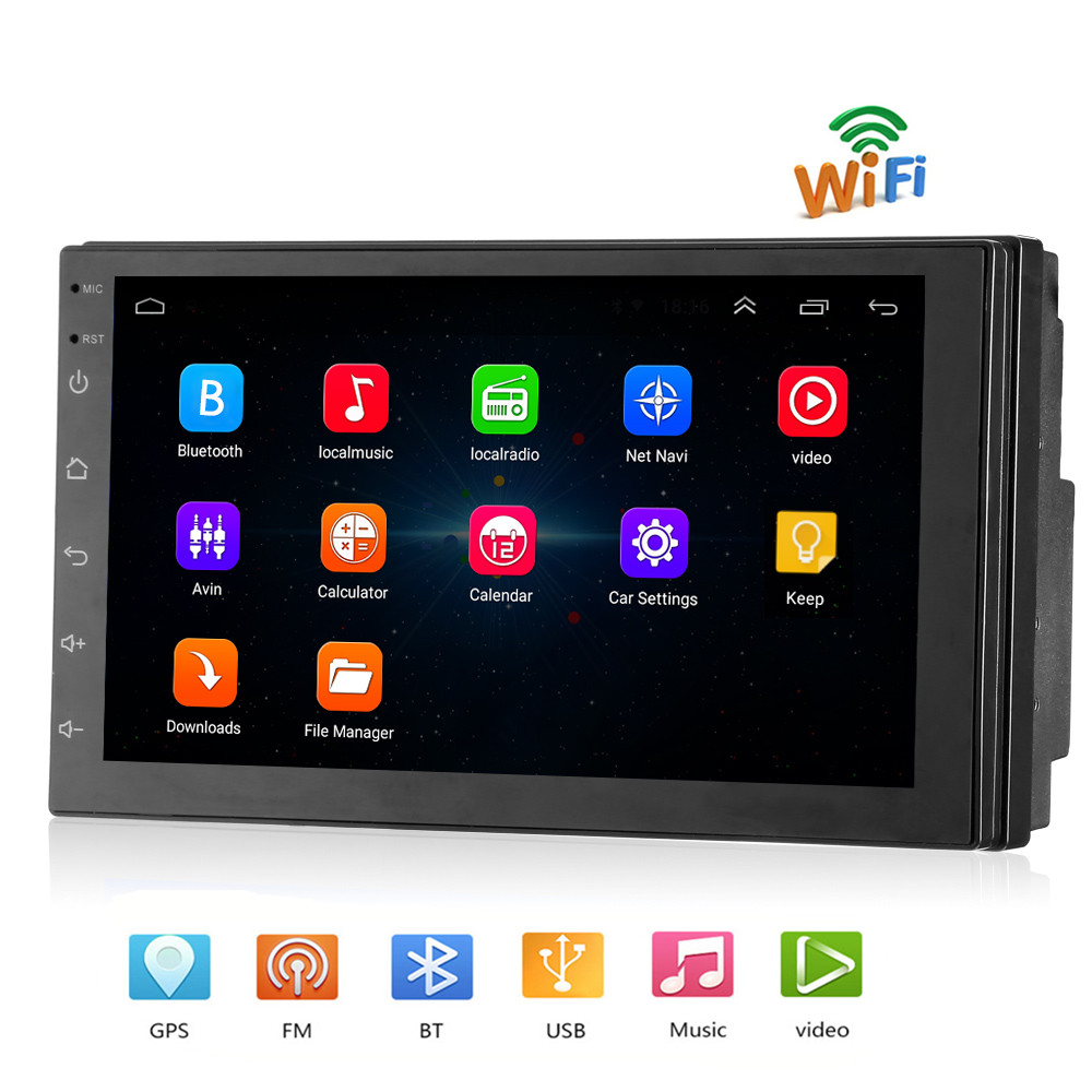 Rectangle 8802 Universal 2 din font b Car b font Multimedia Player 7 inch Touch Screen