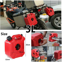 3L Red Mount Motorcycle Gas Diesel Petrol Fuel Container Oil Tank Safety Gasoline Fuel jugs For Car Motorcycle Accessories