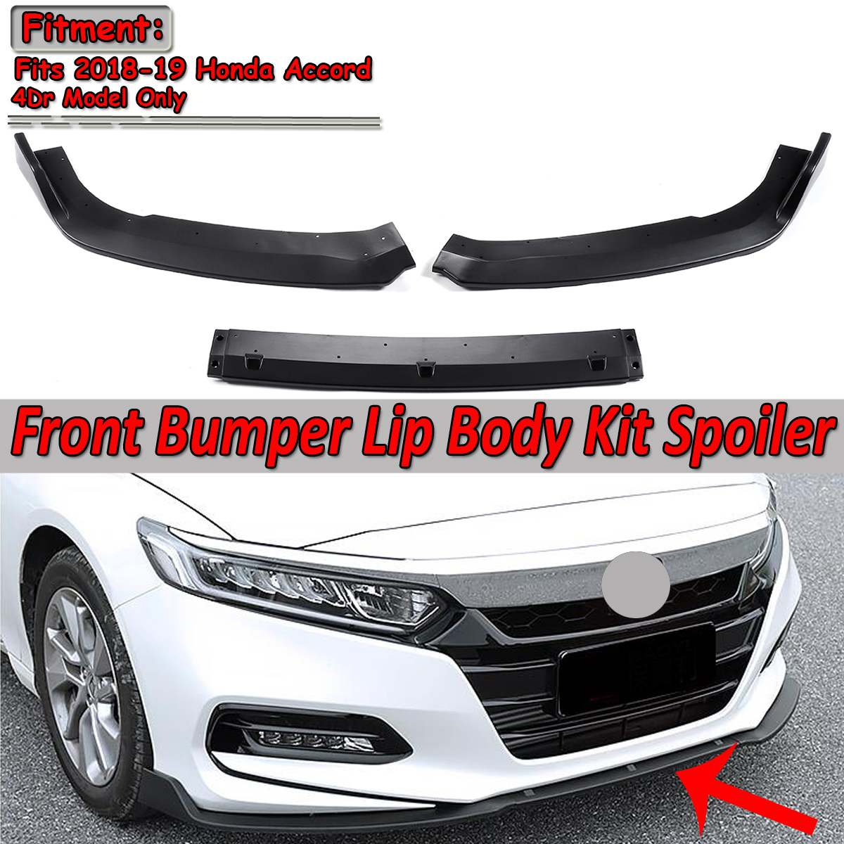 2019 Honda Civic Sedan Front Splitter: Aliexpress.com : Buy New 3pcs Designed Car Front Bumper