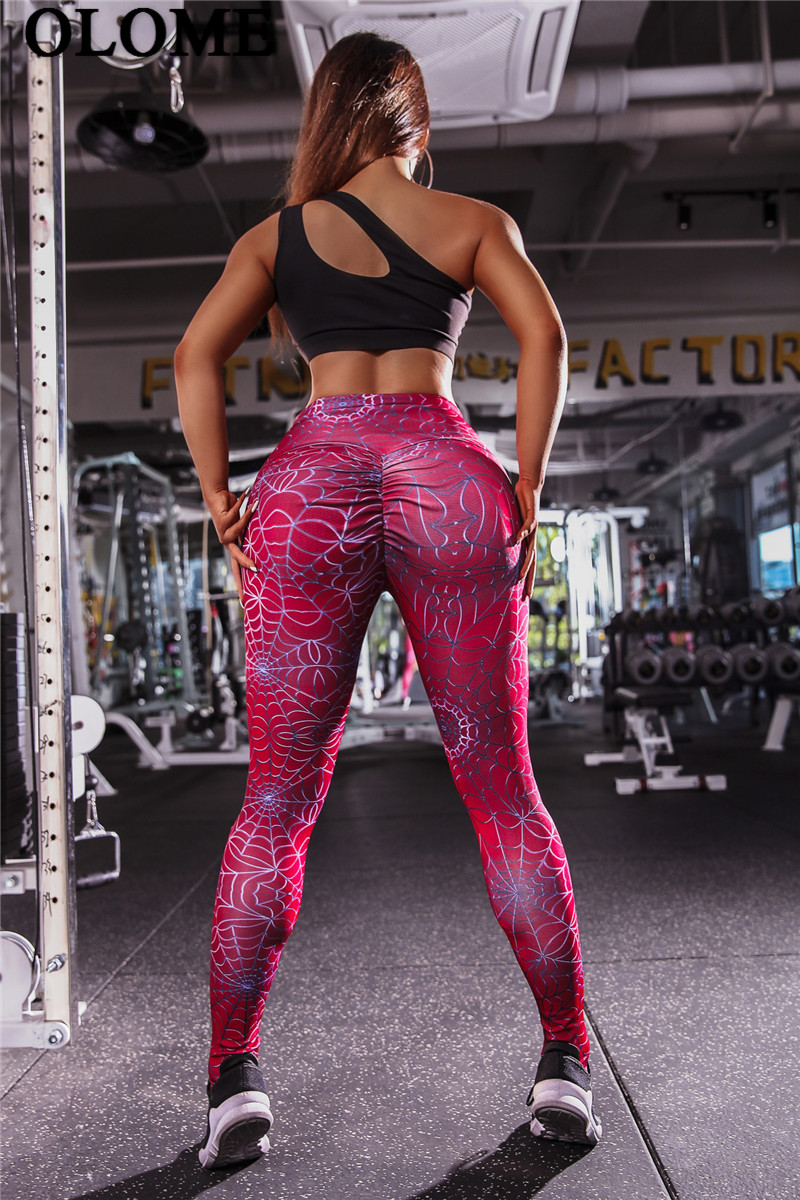 Leggings   Women Solid Color New Spider Line Printing   Leggings   Polyester Hip High Waist Casual Slimming Fitness   Legging  !