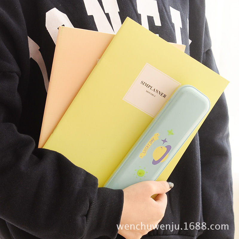 B5 Light-colored Cover Exercise Book Notebook Diary Concise Stationery Office School Supplies Gift Random Color