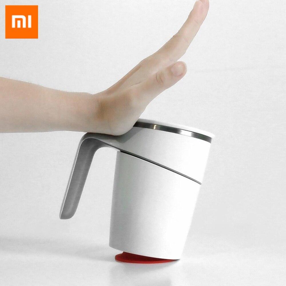 Xiaomi résistant aux éclaboussures 304 Original magique Fiu anti-dérapant ventouse verseuse tasse 470ml inox Innovation pas Double isolation ABS 35