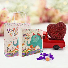 New Unicorn Hand-Painted Fresh Gift Box Hand Bag Gift Bag Flamingo Wedding Gift Package Christmas Party Decoration Supplies(China)