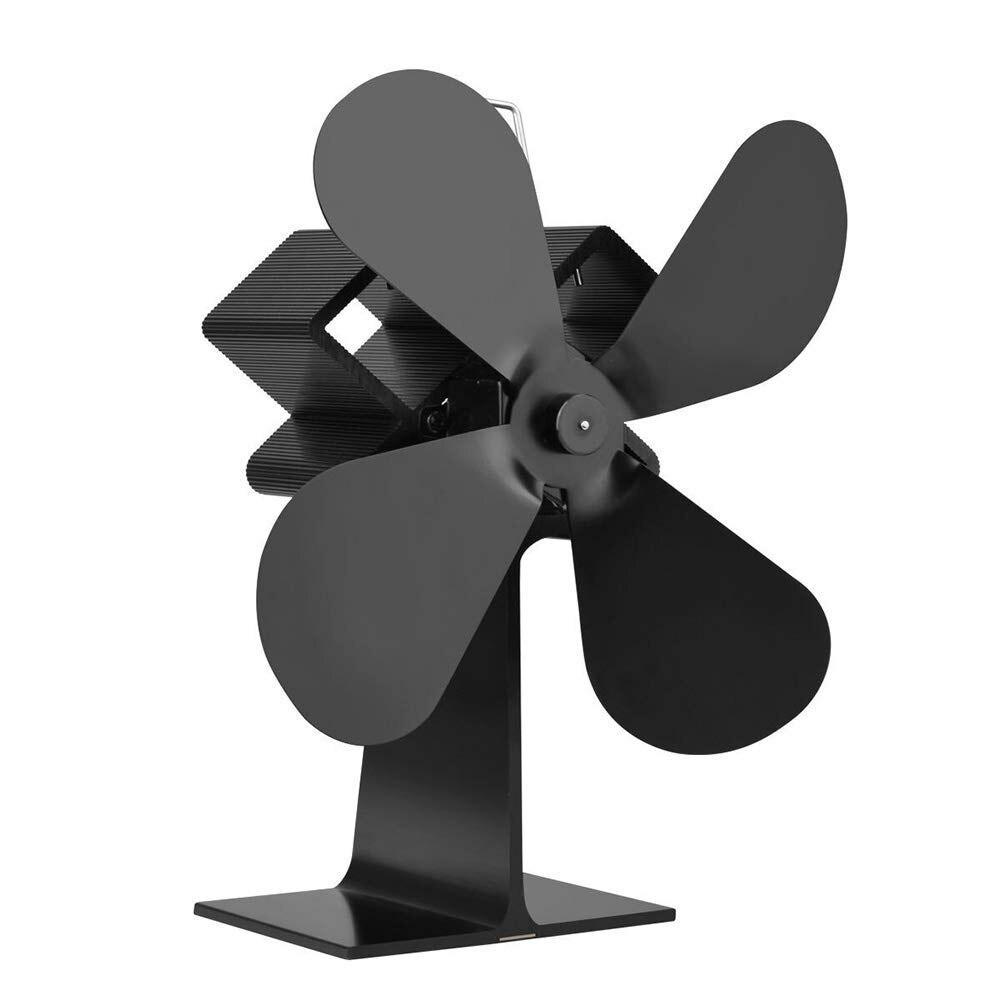 100% QualitäT Ffyy-wärme Brennstoffe Herd Magnetische Fan Thermometer 4 Klingen Holz Erwärmung Fans Für Holzscheite Kamin