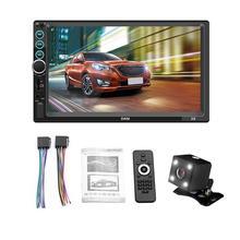 """7 """"2 DIN MP5 Auto Lettore Bluetooth Dello Schermo di Tocco Stereo Radio della Macchina Fotografica Supporta Android IOS Immagine del Sistema di Collegamento FM radio Specchio"""