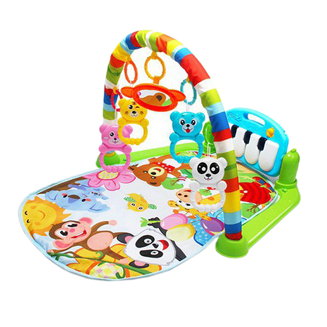 Baby Play Mat Kids Rug Educational Puzzle Carpet With Piano Keyboard And Cute Animal Playmat Baby Gym Crawling Activity Mat Toys 1