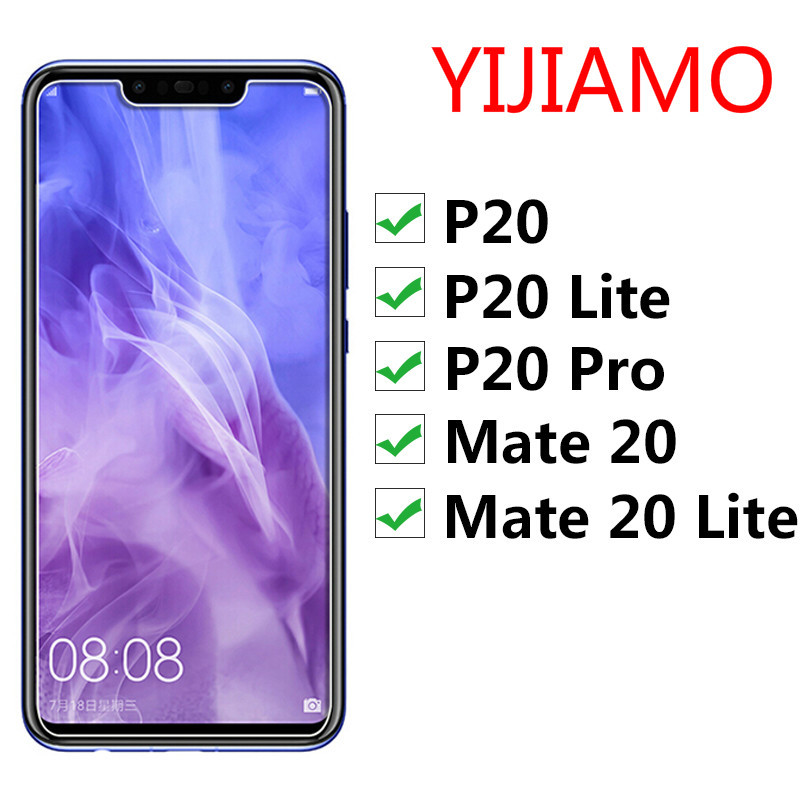 Verre pour Huawei Mate 20 Lite P20 Pro protecteur d'écran en verre de protection sur Mate20 20lite P 20 P20lite P20pro 20pro mat