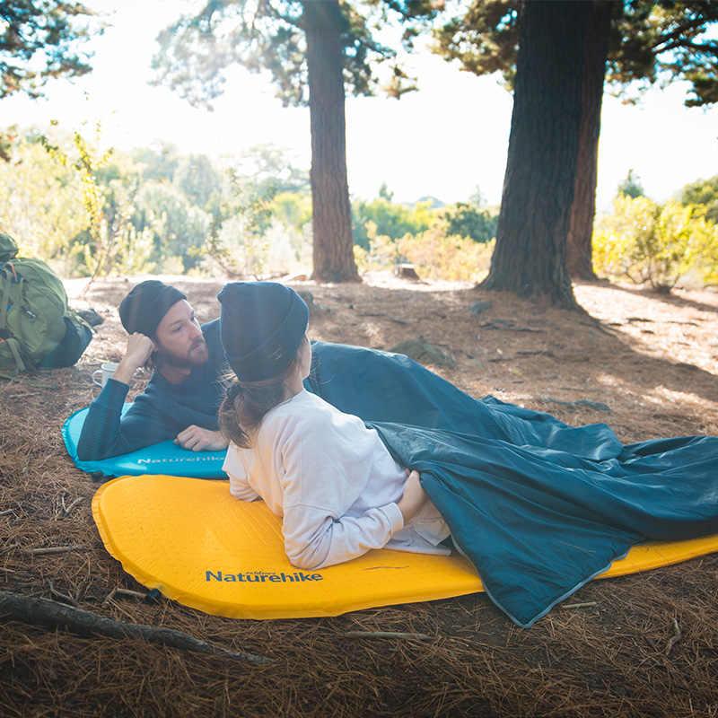 を Naturehike キャンプマットレス長く自己膨張キャンプマット高品質スポンジスリーピングパッド、屋外ハイキング