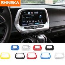 SHINEKA İç mekanlar için Chevrolet Camaro 2017 7 8 inç navigasyon ekran GPS Panel dekorasyon krom çerçeve Sticker
