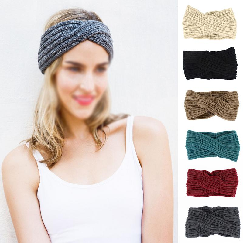 Back To Search Resultsapparel Accessories Women Knitted Headbands Winter Warm Head Wrap Wide Hair Accessories Accesorios Para El Cabello