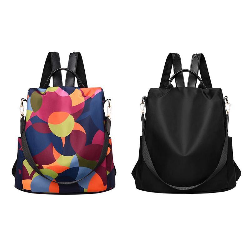 Female Anti theft Backpack Waterproof Oxford Women Backpack Fashion Women Travel Bag Brand Ladies Large Capacity Backpack|Backpacks| |  - title=