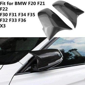 1 paar Achteruitkijkspiegel Cover Cap voor BMW Serie 1 2 3 F20 F21 F22 F30 F31 F34 F35 F32 f33 F36 X3