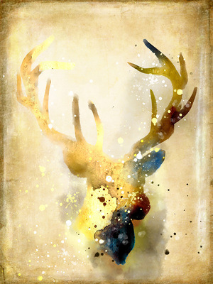 Golden Elk New Nordic Ins Style Decoration Painting Wall Pictures for Living Room Oil Canvas Anime Poster Art Print
