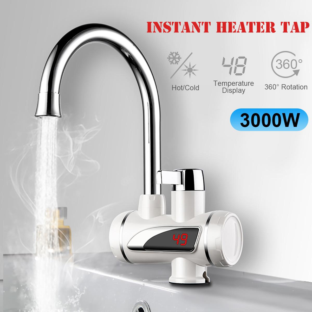 Temperature Hot Kitchen Electric Faucet Heater Tap Cold Heating Faucet Instantaneous Water Heater