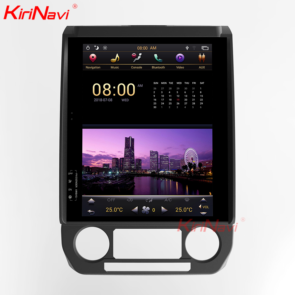 KiriNavi Vertical Screen Tesla Style Android 7.1 12.1 Inch Car Stereo For Ford F150 Touch Screen GPS Navigation AUDIO WIFI 2013+